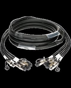 flexible 4-fold MultiCAT6A network cable with RJ45 connectors