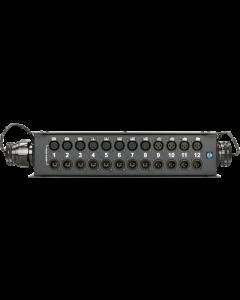 TrussLink DMX stagebox 12 channels - 8x XLR 5p. F/M + 4x XLR 3p. F/M + 2x RMP 37p. F/M - single ground