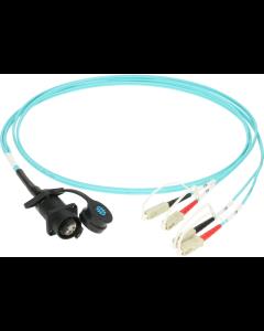 FiberLink SmartBeam QUAD D-series to 4x SC/PC multimode installation adapter