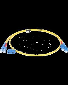 single-mode fiber optic duplex patch cable OS2: SC/PC - SC/PC