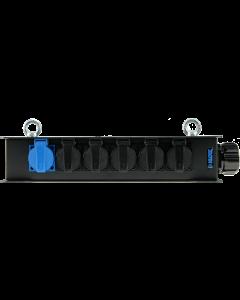 Harting power distribution box 6 channels - 1x RMP419AR male - 6x Schuko female, Socapex compatible