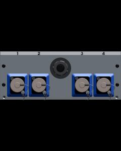 MIS SmartBeam OCTO single-mode fiber optic distribution, width 42 HP, for MIS-FR.. frames