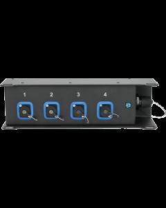 TrussLink OCTO Fiber Rigg & Floor Box, single-mode fiber optic signal distribution, 1x SmartBeam OCTO - 4x LC/PC Duplex opticalCON